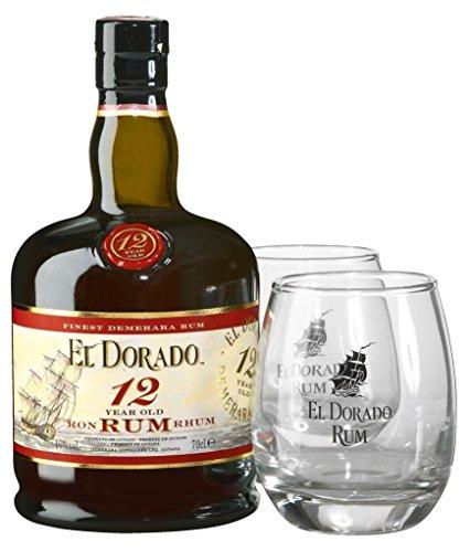 El Dorado 12 Years Old + GB mit 2 Gläsern 4 40% Vol. 0,7 l