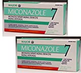 (2 Pack) Miconazole Vaginal Cream Antifungal (Contains 2 Tubes of 1.59oz (45g) Each - 2 Courses of Therapy)