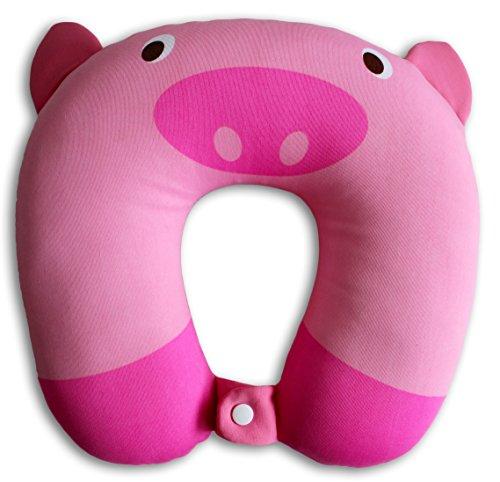 NIDO NEST Kids Travel Pillows for Airplane - Cute U-Shaped...