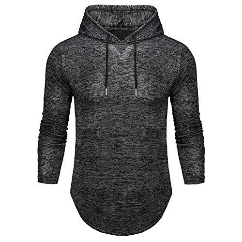 MENAB Men's Long Sleeve Pullover Hoodie Sweatshirts with Kangaroo Pockets Solid Color Hoody Men's Long Sleeve Pullover Hoodie Sweatshirts Solid Color Hooded Jumper 6 Colors Size