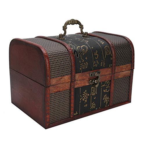 Caja de almacenamiento de joyas, mango de resina seguro y práctico Materiales de alta calidad Joyero a prueba de(large, Chinese style)