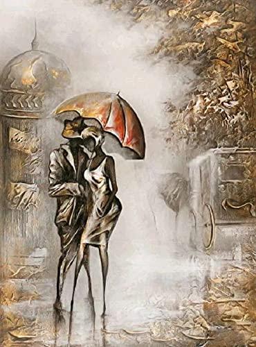 JHGJHK Couple Romantique acte Art peinture à lhuile Salon décoration Chambre familiale décoration peinture à lhuile 7