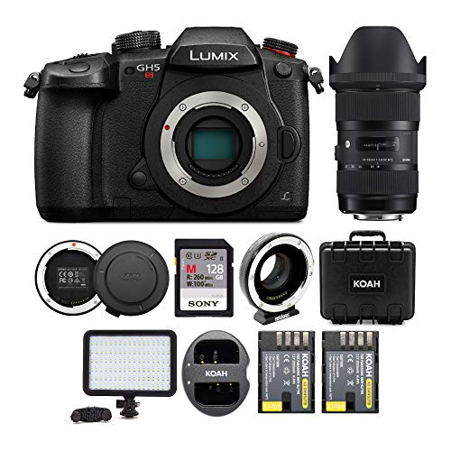 Amazing Deal PANASONIC LUMIX GH5s Body C4K Mirrorless Camera with Sigma 18-35mm Lens and Metabones S...