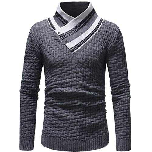 MENHG Mens Roll Neck Knitted Sweatshirt Jacket Cardigan Sale Clearance Jumper Sweater Men Long Sleeve Solid Colour Classic Casual Plaid Button Warm Fleece Knitwear Jacket Pullover Blouse Top Outwear