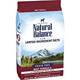 Natural Balance L.I.D. Limited Ingredient Diets Dry Dog Food, Beef Formula, 4 Pounds, Grain Free