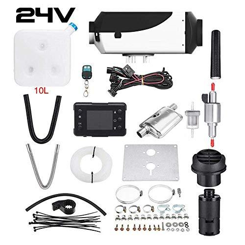Finelyty Kit riscaldatore Aria Diesel, riscaldatore Auto, riscaldatore Diesels Aria 5000W 12V / 24V, riscaldatore parcheggio con Monitor LCD Telecomando