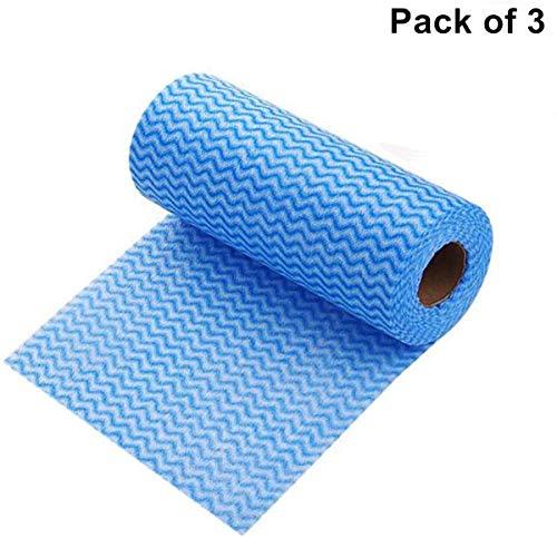 Seidiges, glattes, weiches Profi-Serie-Premium-Toilettenpapier, 3-lagig, umweltfreundlich, recyceltes Toilettenpapier, weich, stark und saugfähig, Handtücher für den täglichen Gebrauch blau