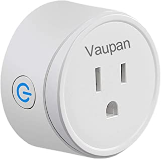 Smart Plug, Vaupan WiFi Mini Switch Socket Smart Outlet Works with Alexa, Google Home & IFTTT, Voice APP Remote Control Your Devices, No Hub Required, ETL & FCC Certified, White (1 Pack)