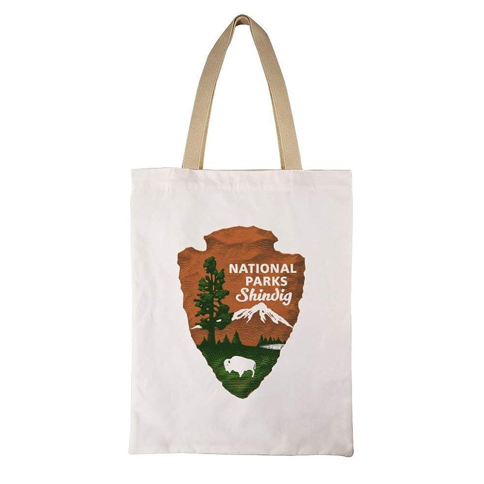 どれでも拍手眼National Park Service レディース キャンバストートバッグ ハンドバッグキャンバスショルダーバッグ通勤通学 大容量 軽量