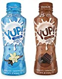 YUP! Low Fat Ultra-Filtered Milk Bundle of Twelve 14 Ounce Bottles: 6 Chocolate and 6 Vanilla