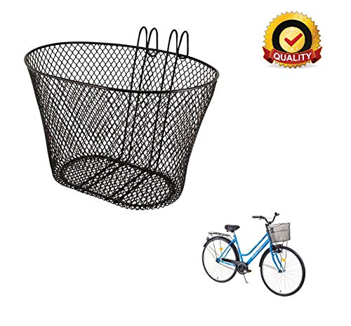 Ducomi Front Fahrradkorb für Damen, Herren, Kinder und Hund - Universal Fahrradkorb für Lenker - Packtasche aus Rostfreiem, Plastifiziertem Metall zum Radfahren und Einkaufen (31 x 19 x 19 cm)