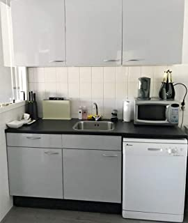 decalmile Vinilos Cocina Frases Kitchen Negro Pegatinas de Pared Decoraci/ón de la Cocina