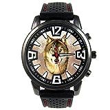 Timest - Lobo - Reloj para Hombre con Correa de Silicona Negro CSF039
