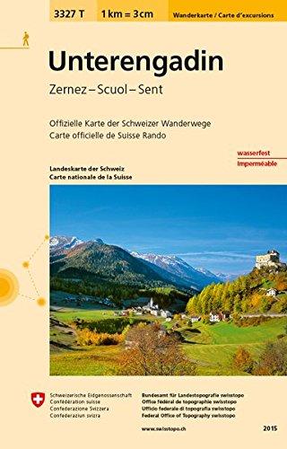 3327T Unterengadin Wanderkarte: Zernez - Scuol - Sent (Wanderkarten 1:33 333)