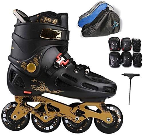 LQ Unisex-Jugend Inline Skates 4 Räder Größe 39-43 Frauen Männer Roller Skates, 2 Farben (Color : Black B, Size : EU 43US 10UK 9JP 26.5cm)
