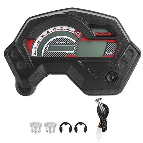 koulate Medidor de Motocicleta, velocímetro LCD LCD LCD Digital velocímetro Pantalla para un Acceso fácil y Claro a la información Ajuste para Yamaha FZ16