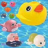 sigando Baby Badewannen Badespielzeug,Ente Spray Wasserspielzeug, Baby Spielzeug ab 6 Monate