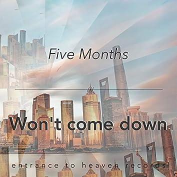 Won't Come Down