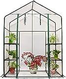 Quictent Mini Walk-in Greenhouse 3 Tiers 6 Shelves Plants Garden Green...
