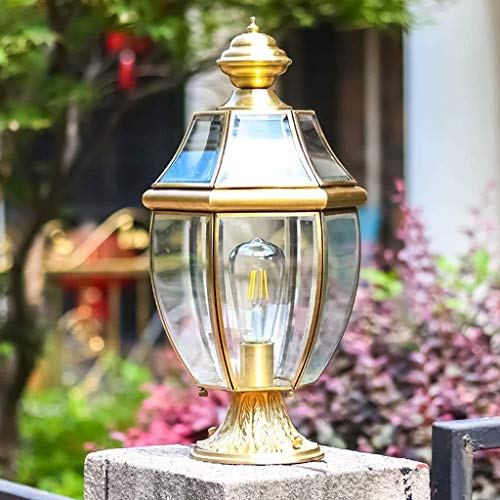 Lámpara De Pared Simple Y Fresca Postes De Cobre Para Exteriores, Lámpara De Pilar De Valla, Lámparas Retro Clásicas, Luces De...