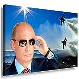 Putin Leinwandbild / LaraArt Bilder / SchwarzWeiß + Kunstdruck m14 Wandbild 40 x 30 cm