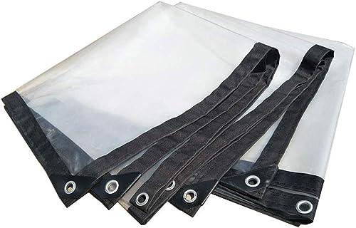 Gxmyb Bache Bache Anti-Pluie Transparente avec Oeillets épaissir la Feuille de bache d'isolation Auvent imperméable de Toile de Hangar imperméable - 140g   m2 (Taille   2mx10m)