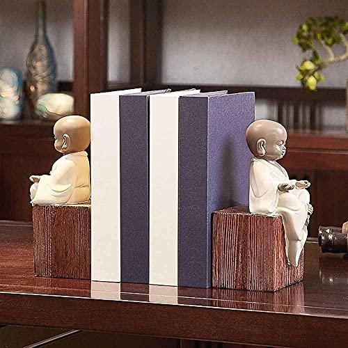 Marks Sujetalibros de Estilo Europeo Estante de exhibición Adornos de Monje pequeño Estudio de Oficina Sujetalibros Libros Confíe en Muebles creativos para el hogar Manualidades Decoración de Oficina