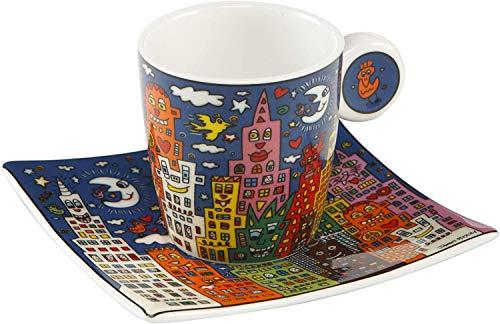 Goebel City Night - Espressotasse Pop Art James Rizzi Bunt Fine Bone China 26102381