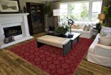 Garland Rug Sparta Area Rug, 9' x 12', Chili Pepper Red