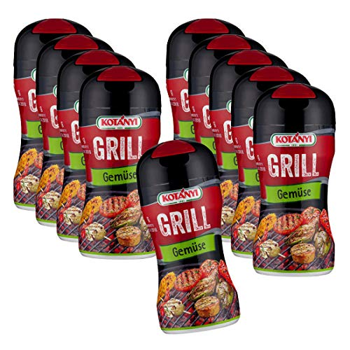 10er SET Kotanyi Grill Gemüse 80 g / Gewürzmischung in Streudose