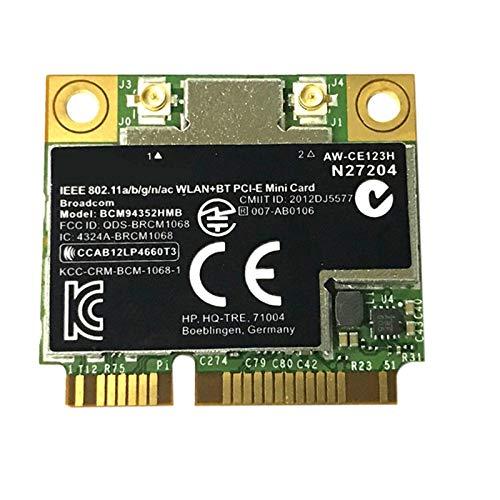 Naliovker BCM4352 BCM94352HMB Halbe PCIe PCI Express WLAN Karte 802.11AC 867 MHz für 724935-001