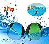 MAKFORT 2 Pcs Balle rebondissante d'eau de pour la Piscine et la mer Jeu de Sports Aquatiques d'amusement pour Adolescents Adultes la Famille et Les Amis (Bleu + Vert)