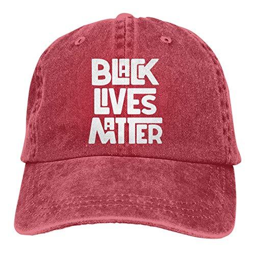 LsjueeGorra para Hombres, Mujeres, Black Lives Matter Gorra de Mezclilla Ajustable de algodón para Hombres