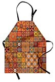 Lunarable Moroccan Apron, Group of Moroccan...