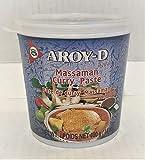 Pasta de curry Aroy D Massaman de 14 onzas, paquete de 1