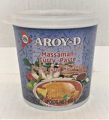 Aroy D Massaman Pasta de curry de 14 onzas, paquete de 1