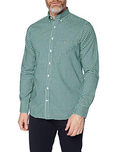 GANT The Broadcloth Gingham Reg BD Camisa para Hombre