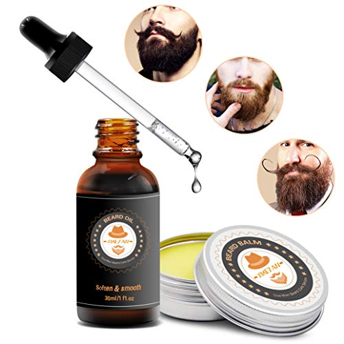 XIKEZAN Beard Grooming Kit in METAL BOX w/Beard Shaping Tool,Beard Shampoo/Wash,Beard Conditioner Oil,Beard Balm,Brush,Comb,Scissor,Beard Growth Care Accessories,Unique Boyfriend Gifts for Men