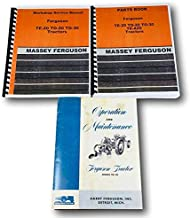 Set Massey Ferguson To-20 Tractor Service Repair Owners Operators Parts Manuals