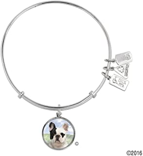 Wind and Fire Pet Collection Expandable Bangle with Pet Photo Charm