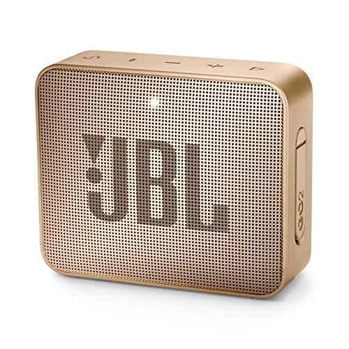 JBL GO2 Champagne - Speaker portatile waterproof con connettività Wireless Bluetooth, Vivavoce e Batterie ricaricabili integrate (JBLGO2CHAMPAGNE)
