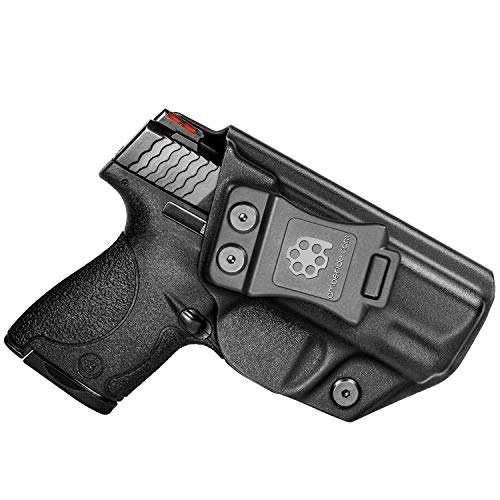 """Amberide IWB KYDEX Holster Fit: S&W M&P Shield & Shield M2.0-9/40-3.1"""" Barrel   Inside Waistband   Adjustable Cant   US KYDEX Made (Black, Right Hand Draw (IWB))"""