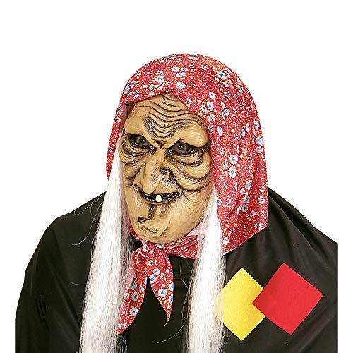 WIDMANN 00381-Máscara de bruja con pelo, talla única