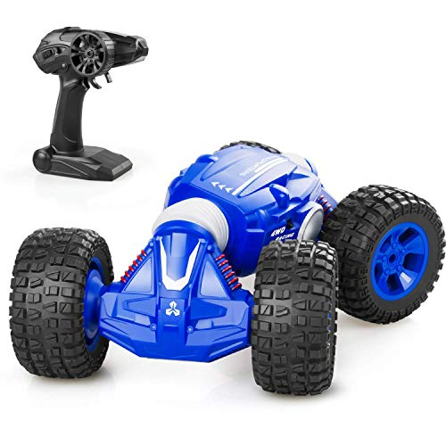 IMDEN Remote Control Car, Rc Cars with 2.4Ghz, 4WD Off Road Monster Truck for Boys & Girls, 1/16 Scale Fast Speed Deformation Stunt Car with 2 Rechargeable Batteries