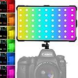 RGB Antorcha Led Video, Luz LED RGB Videocámara Luz Video de Bolsillo Recargable Foco Led Camara con Batería Incorporada Type-C Cambio rápido CRI97+/TLCI 98+ 3200K-5600K 360 Colores Ajustables