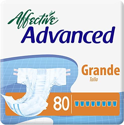 Affective Advanced Pañal Adulto Incontinencia Severa Unisex Talla L - 80 Pañales 100 g