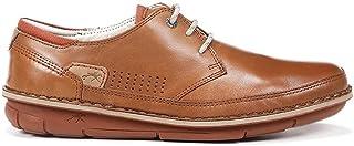 Fluchos | Zapato de Hombre | Alfa F0787 Habana Cuero Com.1 | Zapato de Piel | Cierre con Cordones | Piso de Goma