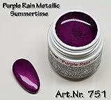 5ml UV Exclusiv Summertime Farbgel Purple Rain Metallic