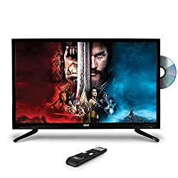 "Image of Pyle 23.6"" 1080p LED TV, Multimedia Disc Player, Ultra HD TV, LED Hi Res Widescreen Monitor w/HDMI Cable RCA Input, LED TV Monitor, Audio Streaming, Mac PC, Stereo Speakers, Wall Mount (PTVDLED24): Bestviewsreviews"