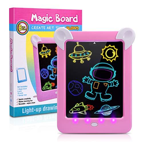 ATOPDREAM Geschenke für Mädchen ab 3-12,Spielzeug Mädchen 3-12Jahre Geschenke Mädchen 3-12 Jahre LCD Schreibtafel für 4 5 6 Jahre Lernspielzeug für Kinder 3-12 Jährige Kinder Billiges Geschenk